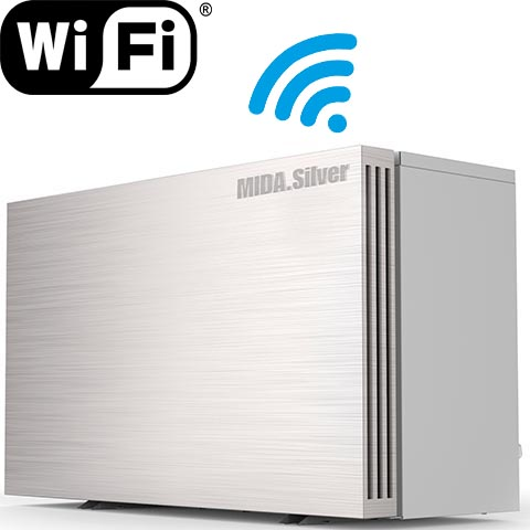 Wärmepumpe MIDA.Silver – optional mit WiFi-Adapter